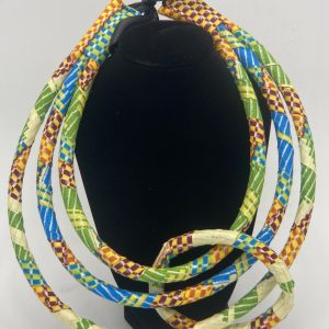 Green Fabric Necklace Set