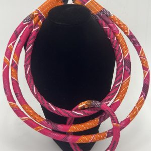 Pink Fabric Necklace Set